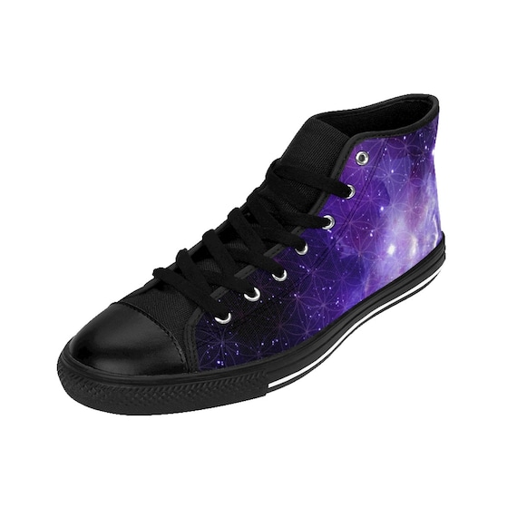 purple high sneakers Flower Top burning man High Outer festival boots booties coachella WomenS shoes Sneakers Of top shoes Space Life Space xYSw5aqv7