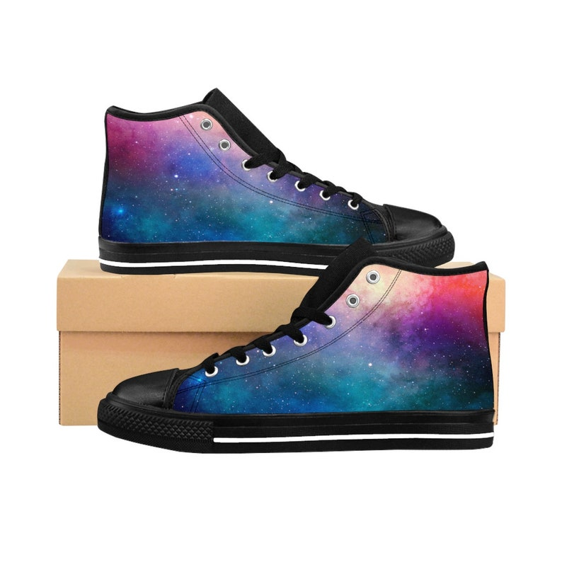 f4d0c7a97b84b festival boots rainbow outer space shoes burning man high top sneakers  Bright Space WomenS High Top Sneakers booties coachella rainbow shoes