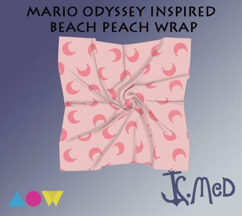 Mario Odyssey Inspired Beach Peach Wrap Skirt