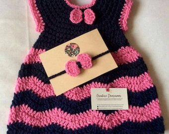 Chevron dress and headband