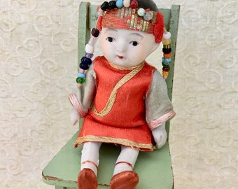 Dearest Little All Bisque Vintage Chinese Girl Doll