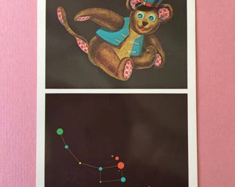 "Darling Vintage Teddy Bear Postcard-""Ursa Minor"""