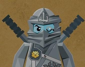 Ninjago Character Masks Pixel Art Handmade From Lego Bricks