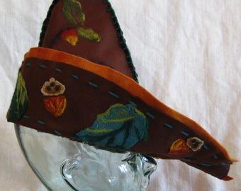 Robin Hood Hat with Needlefelt Embellishments