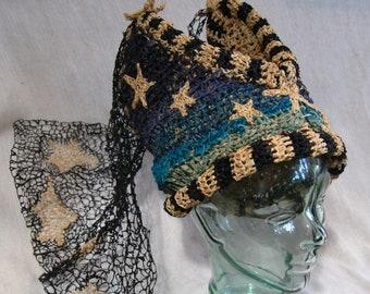Duchess of Moonrise Hat with Needlelace Veil