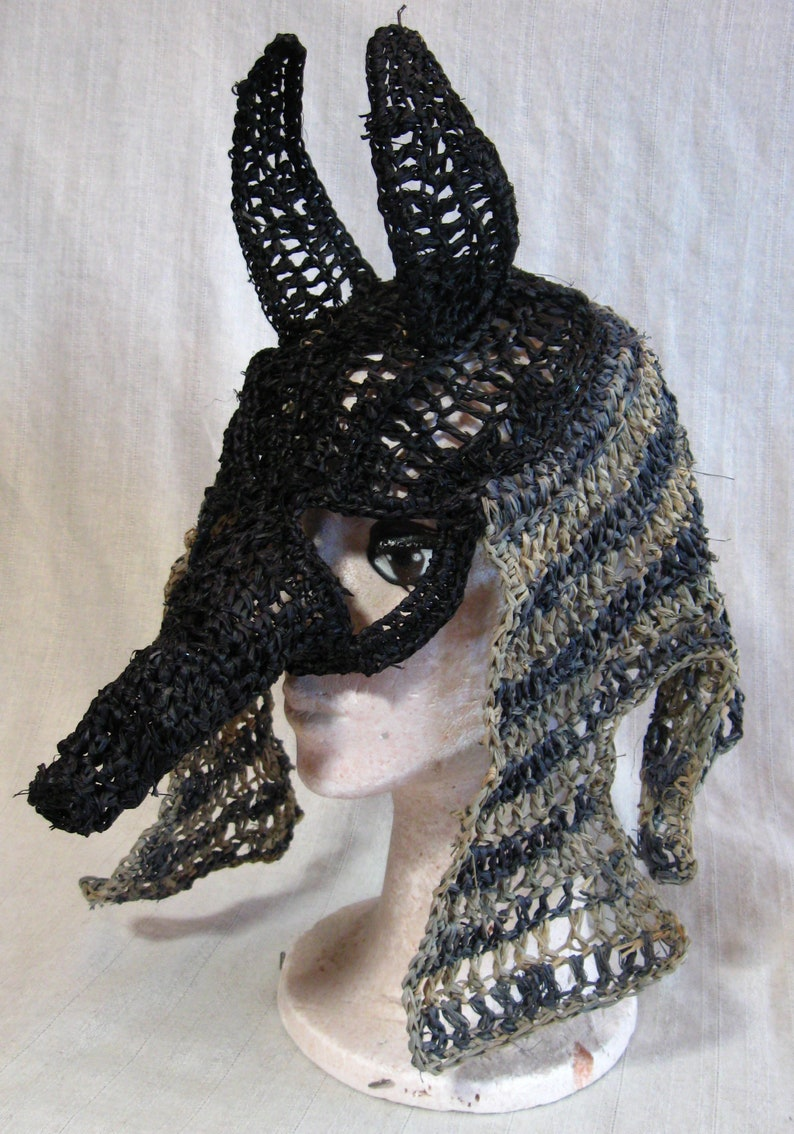 Anubis Egyptian God of the Dead Mask/Hood image 0