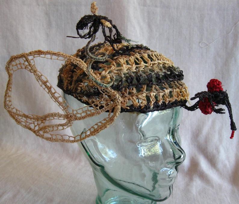 Raffia Mosquito Attack Hat image 0