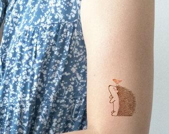 4cea4b8d1 Hedgehog Temporary Tattoo, Hedgehog Tattoo, Cute Fake Tattoo, Hedgehog  gift, Kids Tattoo, Art tattoo, Cute Hedgehog, Tattoo Sticker