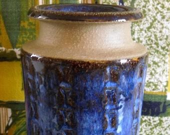 Soholm Stentoj Bamboo Vase Signed Maria Philippi Bornholm Denmark Scandinavian Pottery