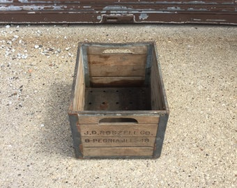 Vintage wooden and metal crate
