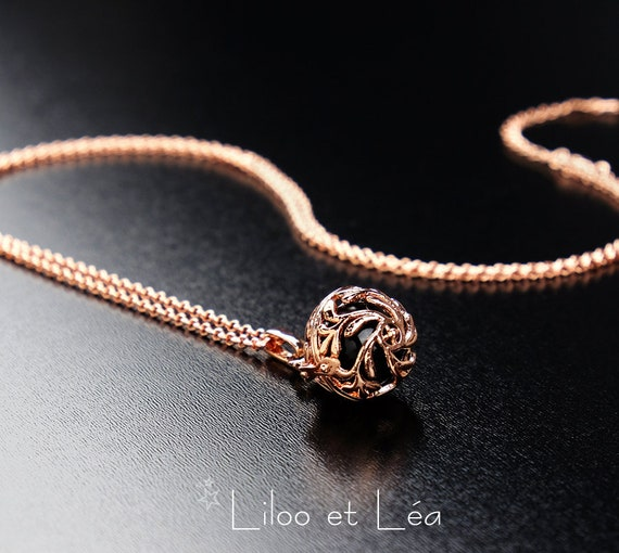 rose gold Angel Bola Harmony Ball Chime Pendant Necklace 50 or essential oil diffuser