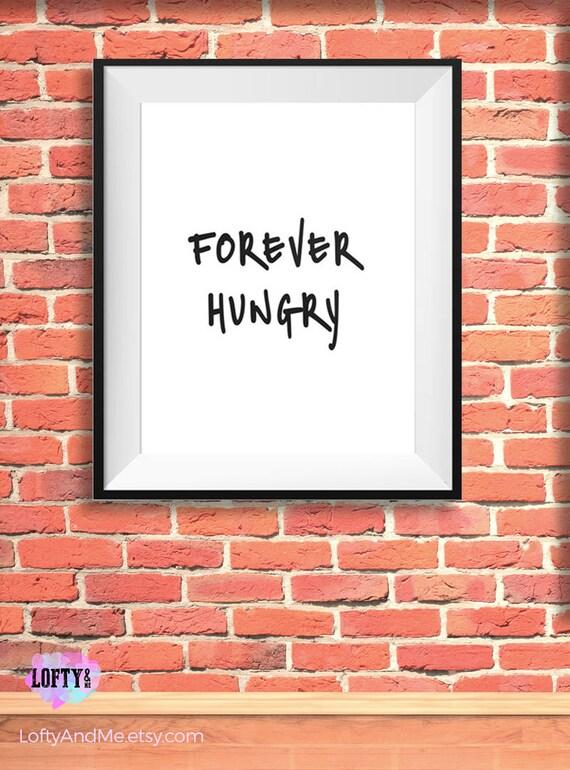 Ewig Hungrigen Neugierig Plakat Lustige Online Lustige | Etsy