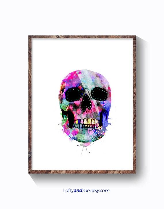 decoración cráneo calavera arte cráneo humano calaveras | Etsy