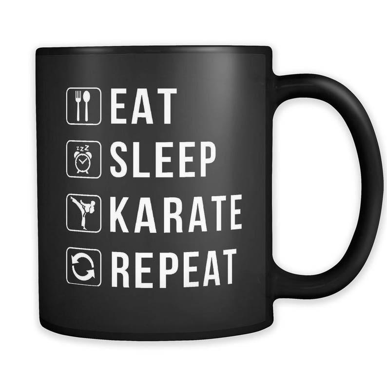 bcb795b8c39 Eat Sleep Karate Repeat Mug Karate Gift Karate Mug Martial | Etsy