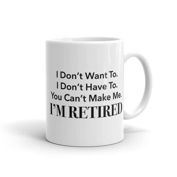 cadeau de retraite retraite mug mug retraite cadeau de etsy. Black Bedroom Furniture Sets. Home Design Ideas