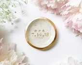 """CUSTOMIZED 3"""" RING DISH // Personalized Polymer Clay Jewelry Dish, Ring Holder, Trinket Dish, Wedding Engagement Gift for her"""