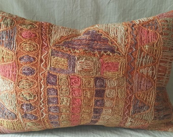 "Kilim Pillow, 16""×24İnches, Lumbar Pillow, Cushion Cover, Decorative Pillow, Pillow Cover, Throw Pillow, Tribal Pillow, Turkish Kilim Pillow"