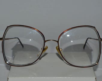 569b9e3e61b2 Vintage Tura Mod 284 Tor HGP Eyeglasses Frame 54-18-136 Italy Turtle Shell  Used Butterfly Shape Lenses In Excellent Conditions