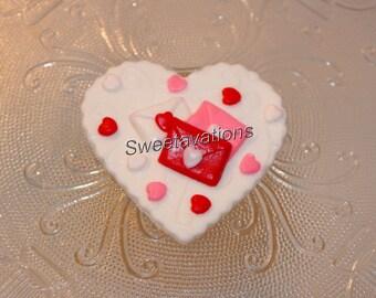 Fondant Valentinstag Kuchen Deckel Fondant Herz Cupcake Etsy