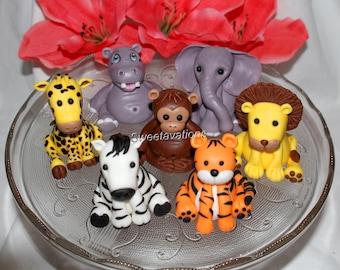 Fondant Jungle Animal Cake Topper