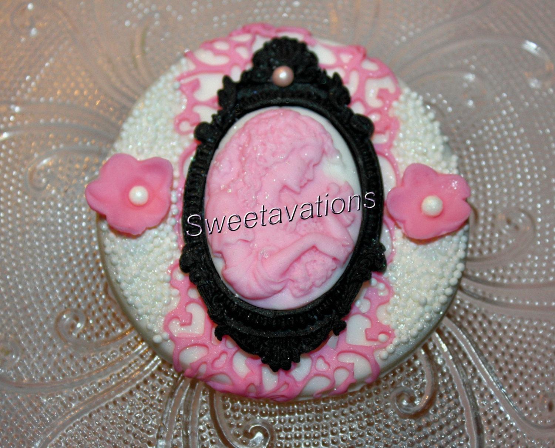 Fondant Cameo Cupcake Topper Qty 12 Fondant Cameo | Etsy