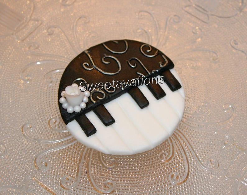 Fondant Piano Cupcake Topper Fondant Piano Piano Topper Etsy