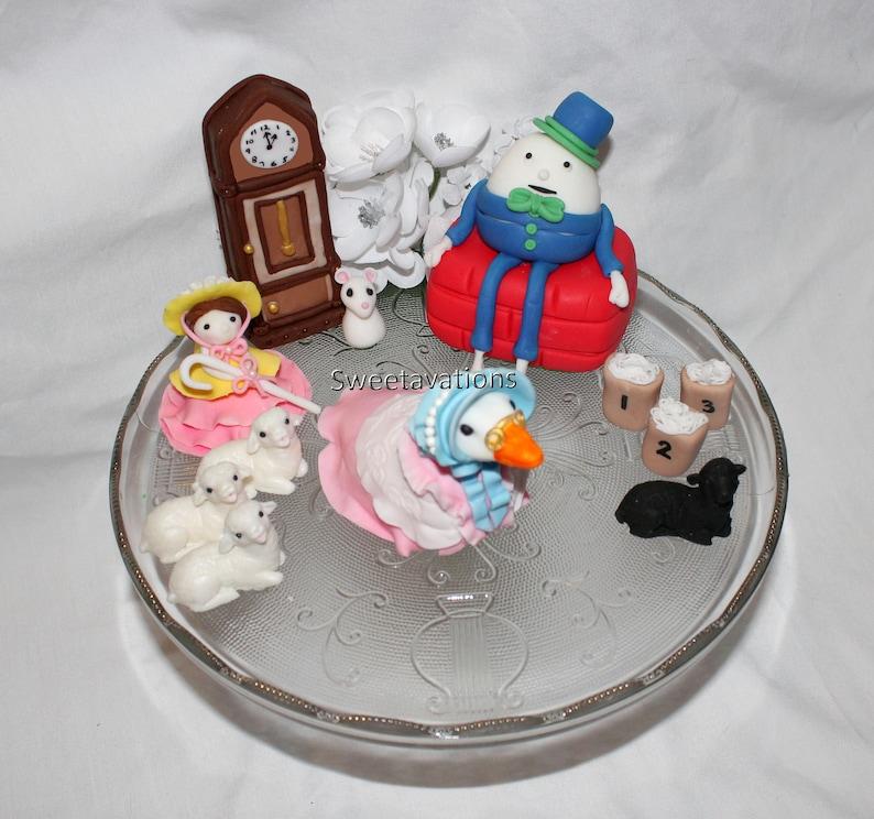 Fondant Mother Goose Cake Topper - Mother Goose Topper - Nursery Rhyme Cake  - Mother Goose Cake - Birthday - 1st Birthday - Baby Shower