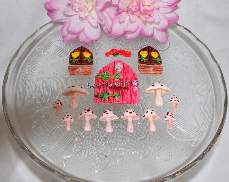 Fondant Fairy Cake Topper - Fondant Woodland Fairy Topper - Fairy Topper -  Fondant Fairy House - Fondant Mushroom - Girl Birthday - Birthday