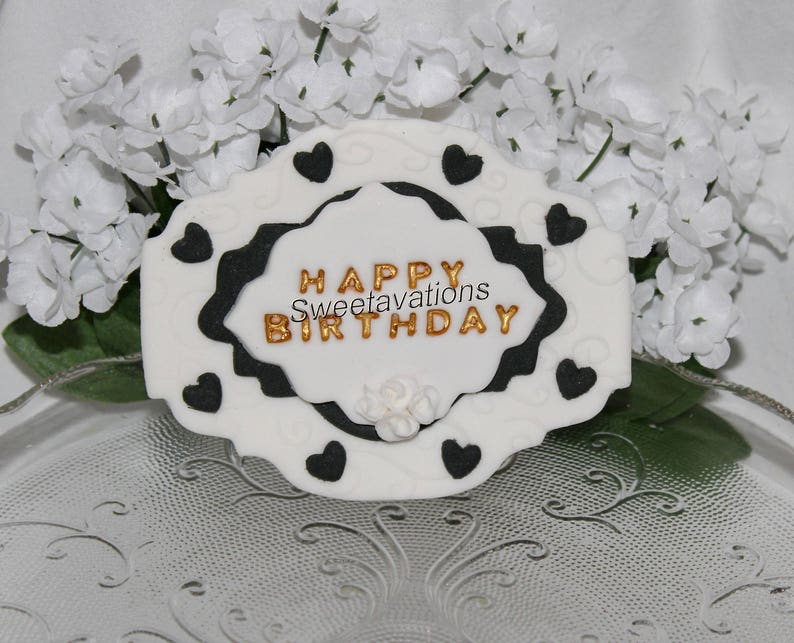 Fondant Happy Birthday Sign Cake Topper