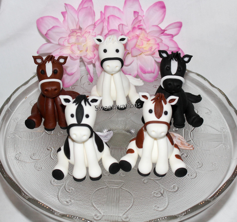 Fondant Horse Cake Topper set/choice Horse Topper   Etsy