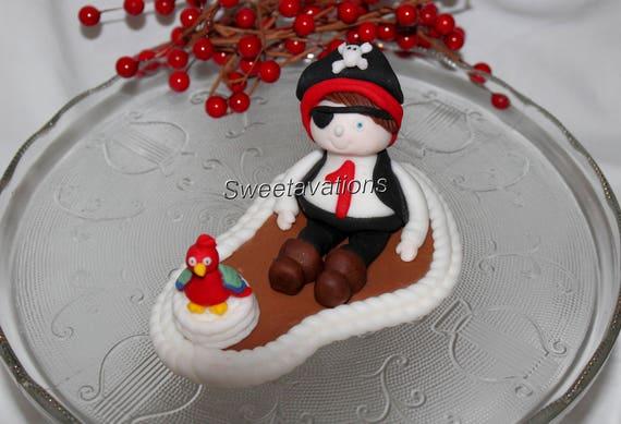 Fondant Piraten Kuchen Deckel Fondant Piraten Etsy