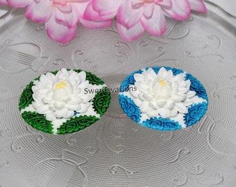 Sugar Flower Lotus Cake Topper - Lotus Cupcake Topper - Fondant Lotus - Fondant Mosaic - Fondant Flower - Bridal - Wedding - Baby Shower