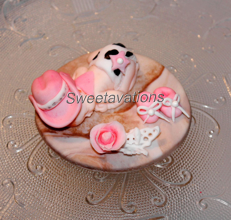 Fondant Baby Cake Topper Fondant Baby Cowgirl Cake Topper | Etsy