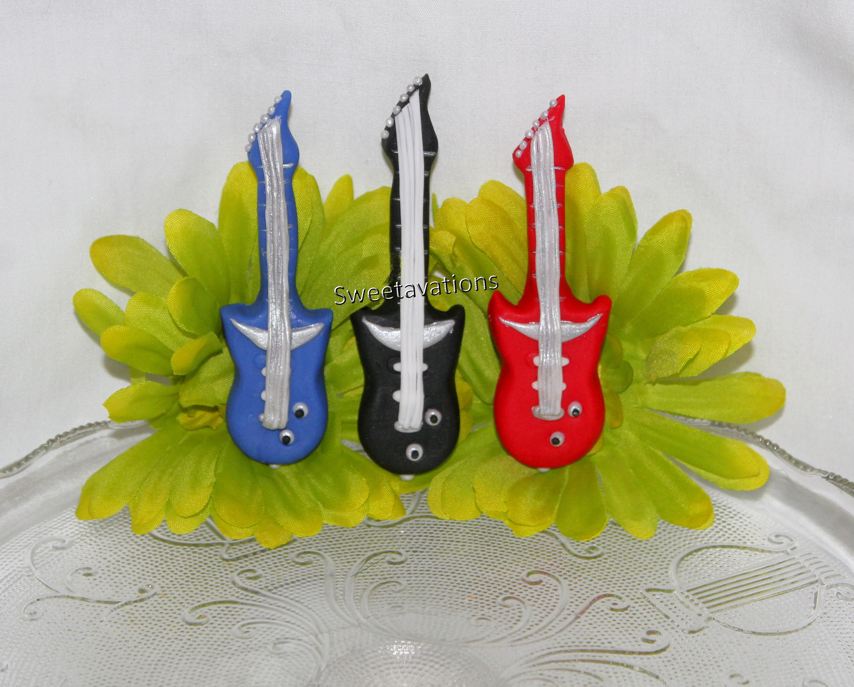 Fondant Electric Guitar Fondant Guitar Fondant Cake Topper