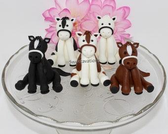 Fondant Horse Cake Topper - Horse Cake Topper - Farm Animal Topper - Horse Topper - Fondant Animal - Horse Birthday - Horse Cake - Horse