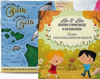 2 sheets + RELAXATION MP3 - stories teaching Leo and Sam discover.. on the wings of schooner (English and French)