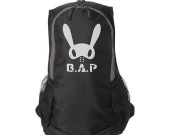 BAP Bunny, Gray & Black, Stormtech Backpack, kpop Style, Tablet Sleeve bag, Back to School, College Bag, bap bunny backpack, kpop gift