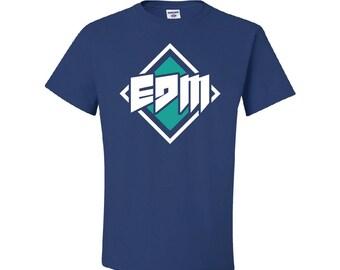 EDM Sign Royal Blue TShirt, Techno Raver Tee, Trance PLUR Tee, EDM Kandy Tshirt, edm dj raver tshirt, rave gift, techno dj gift, trance dj