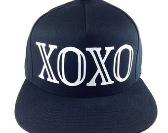 XOXO BASEBALL Cap, EXO Hat, K Pop Style, K Pop Hat, K Pop Gift, Korean Pop Music, Korean Style, Seoul Style, Adjustable Snap Closure, Gift