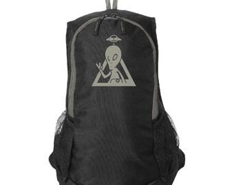 Alien Skater Logo, Gray & Black, Stormtech Backpack, Anime Style, Tablet Sleeve bag, Back to School, College Bag, otaku backpack, geek gift