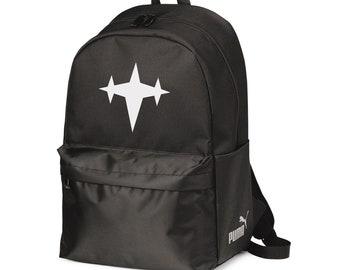 3 Star Logo, Puma Black Bag, Black Backpack, Kill La Kill Bag, School Backpack, Laptop Backpack, College Backpack, Anime Backpack, Anime Bag