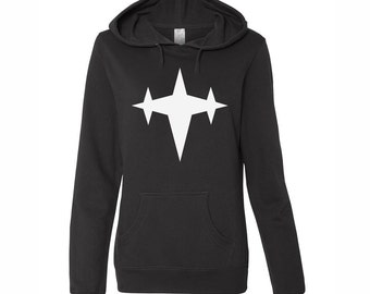 Anime Style, 3 Star Logo, Black Hoodie, Anime Hoodie, Mako Casual Cosplay, Casual Anime Cosplay, Anime Otaku Hoodie, Anime Fight Club gift