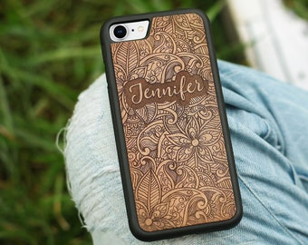 2a6690a297 Personalized Phone Case Wood - Name, Custom, Individual Design - iPhone XR,  XS/X, Xs Max, 8/7, 8/7 Plus, 6s, 6s Plus, SE/5s - Free Shipping