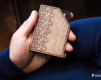 Credit Card Holder Christmas gift Wallet Credit Card Wallet Minimalist Leather Wallet Groomsmen Gift for Mens Wooden Wallet Men gift Husband