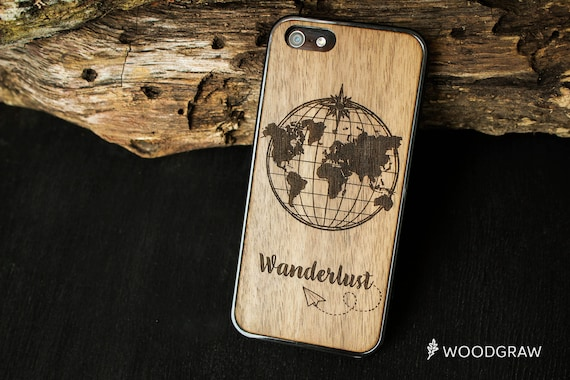 Wanderlust world map earth iphone case 7 wooden 6s geography etsy image 0 gumiabroncs Images