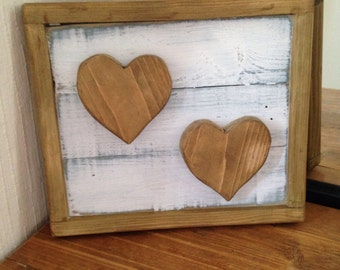 Rustic Reclaimed Wooden Hearts