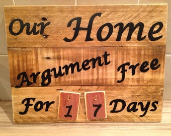 Rustic Reclaimed Wooden Wall Sign