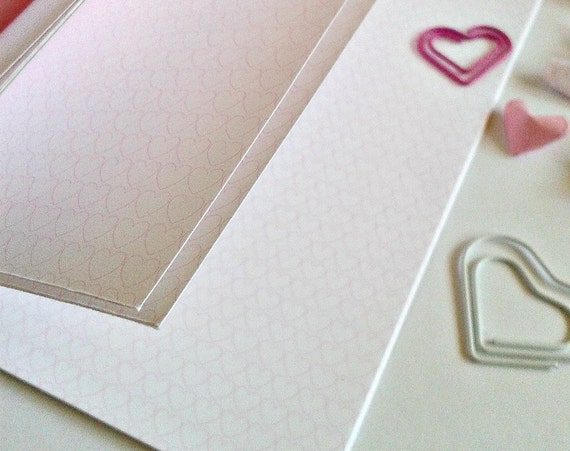PINK HEART GRID Traveler's Notebook Insert - Midori Insert - Unique Gift for Her - Planner Refill - Choice of 9 Sizes - N112