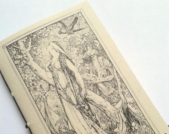 Traveler's Notebook Insert - MAGICIANS WIFE  - Fauxdori Midori Insert - Lined Dot Grid Blank - Standard Personal B6 TN - Fairy Tale - N087