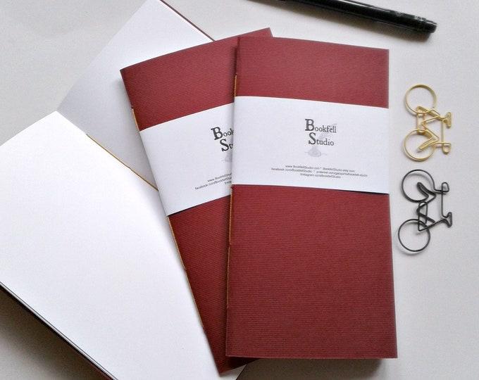 Travelers Notebook Insert - BURGUNDY - Midori Insert - Regular Standard Wide B6 Personal A6 Pocket Field Notes Passport Micro - N394
